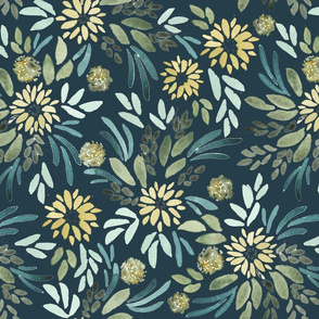 Yellow Whimsy Navy
