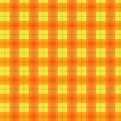Orange Halloween Plaid Smaller fabric by aimee on Spoonflower - custom fabric