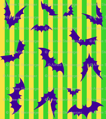 Bat Stripe Halloween Smaller