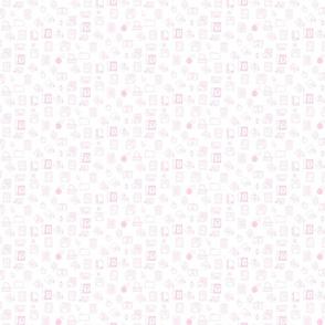 Tiny Retro Apple Iconography Pink