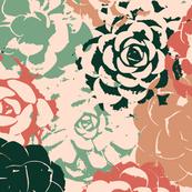 Stamped Succulent Garden