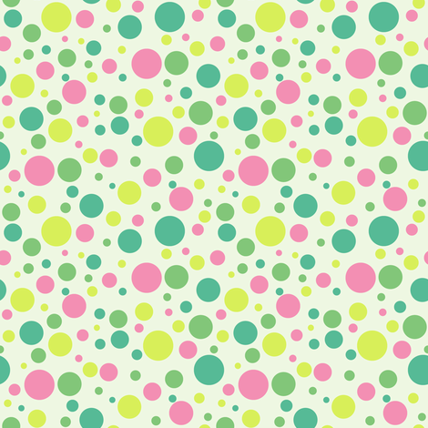 Ladybird Multi-Colour Spot - Cloudy Small fabric by inscribed_here on Spoonflower - custom fabric