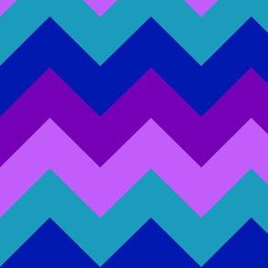 Turquoise Teal Navy Blue Plum Purple Lavender Chevron