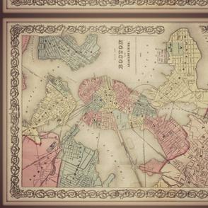 Boston vintage map, FQ
