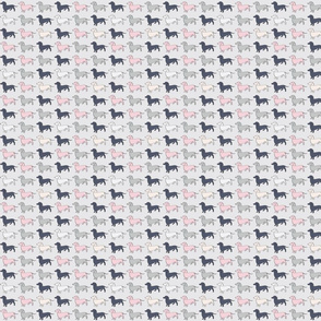 Doxie Madness - Dog - Pink, Grey, Navy