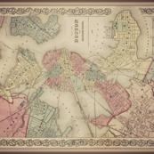 Boston vintage map, large