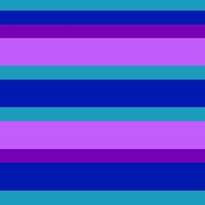 Turquoise Teal Navy Blue Plum Purple Stripes