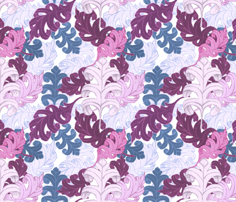 Rococo Leaves fabric by ay_laurita on Spoonflower - custom fabric