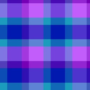 Turquoise Teal Navy Blue Purple Lavender Checkered Plaid