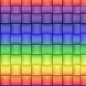rainbow  yellow green blue red purple weave
