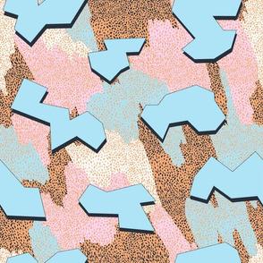 Memphis Pattern - Peach