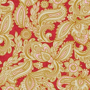 French Paisley - Red