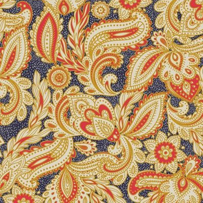French Paisley - Navy