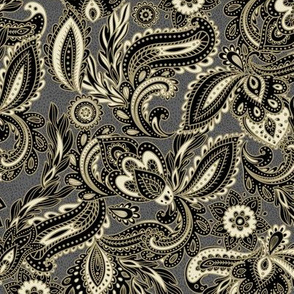 French Paisley - Charcoal