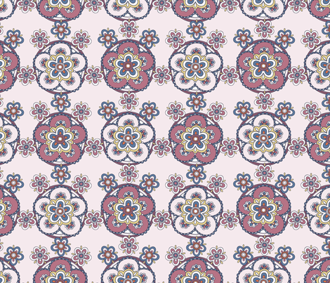 Free Wind Geo Floral - Pink fabric by meganpalmer on Spoonflower - custom fabric