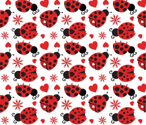 Cute Ladybugs 08 fabric by prettygrafik on Spoonflower - custom fabric