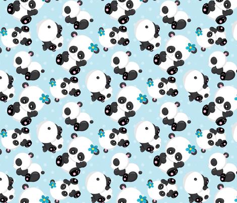 Cute Pandas 08 fabric by prettygrafik on Spoonflower - custom fabric