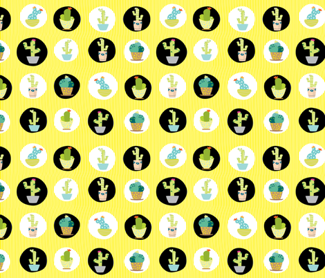 Quirky Little Cacti #19 fabric by quirkysewing on Spoonflower - custom fabric