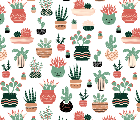 succulent fabric by gaiamarfurt on Spoonflower - custom fabric