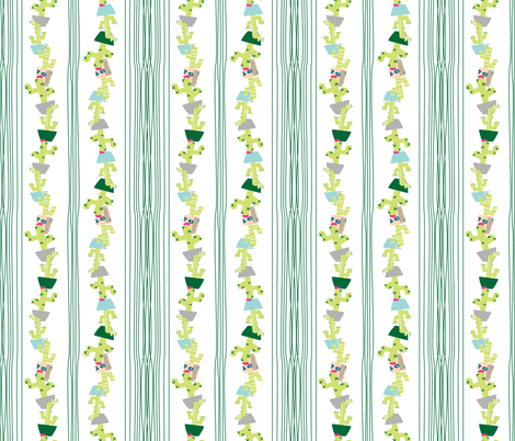 Quirky Little Cacti #23 fabric by quirkysewing on Spoonflower - custom fabric