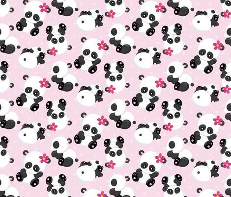 Cute Pandas 10 fabric by prettygrafik on Spoonflower - custom fabric