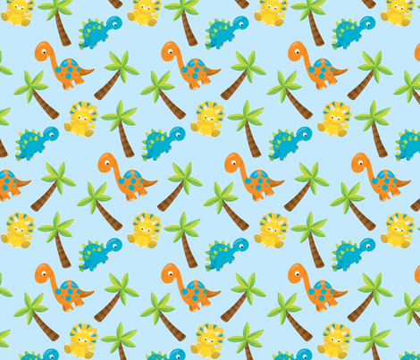 Dinosaurs 02 fabric by prettygrafik on Spoonflower - custom fabric