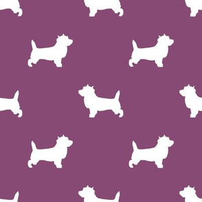 Cairn Terrier silhouette dog breed amethyst