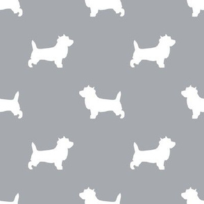 Cairn Terrier silhouette dog breed grey