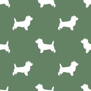 Cairn Terrier silhouette dog breed medium green
