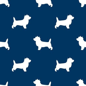 Cairn Terrier silhouette dog breed navy