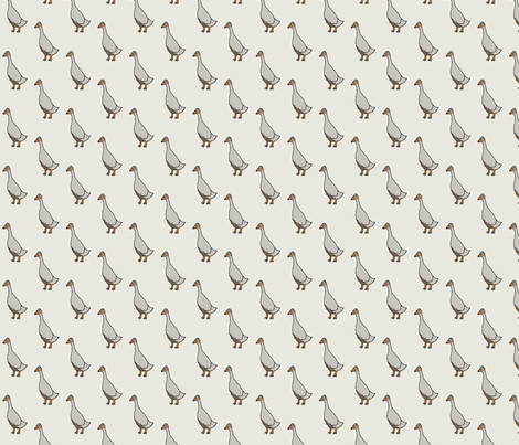 SingleDuck fabric by wbbeardie on Spoonflower - custom fabric