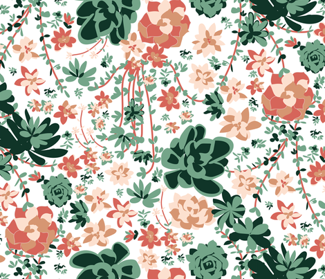 succulents fabric by laurenthomasdesigns on Spoonflower - custom fabric