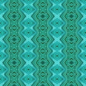 GP7 - Geometric Pillars  in Crystalline Teal, LW