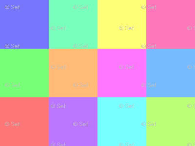 06321754 : square patches : rainbow 12
