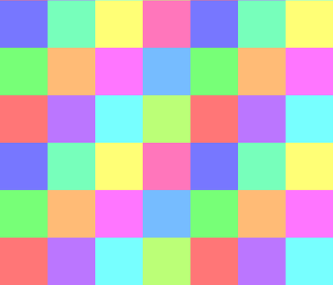 06321754 : square patches : rainbow 12 fabric by sef on Spoonflower - custom fabric