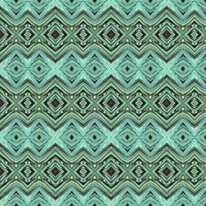Geometric Stripes in Light Teal CW