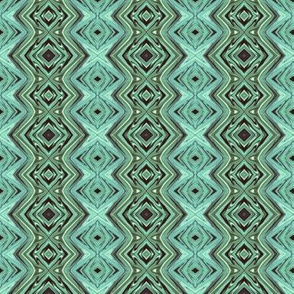 GP20 -  Geometric Pillars in Rustic Teal Green Monochrome