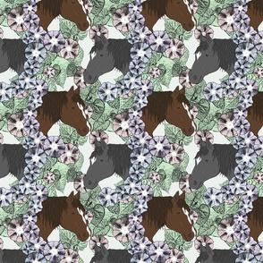 Floral Horse portraits 4