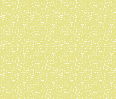 faces 2 - white on glow fabric by cinneworthington on Spoonflower - custom fabric
