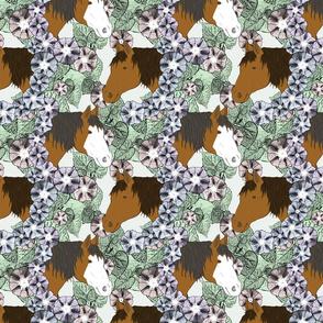 Floral Horse portraits 9