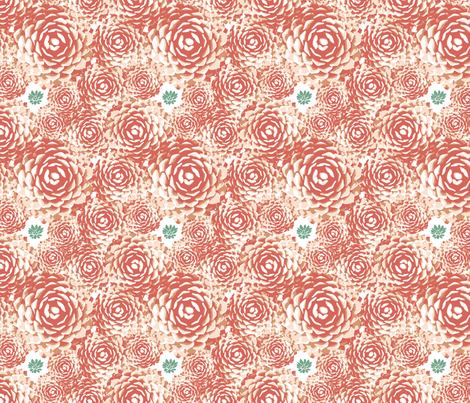 Desert Succulent fabric by spoiledwine on Spoonflower - custom fabric