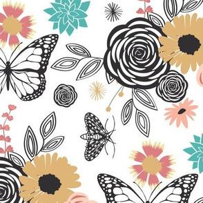 Floral Mix - Monarchs & Honeybees