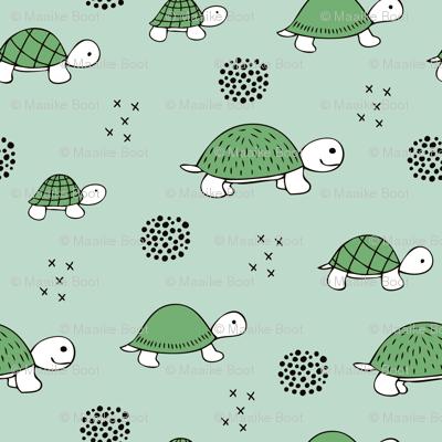 Adorable sea turtle baby animals ocean dream green