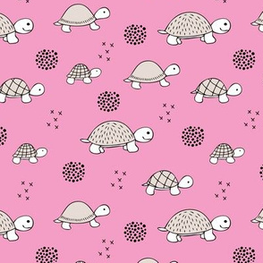 Adorable sea turtle baby animals ocean dream girls pink