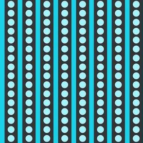 Pretty Aqua Polka Dots