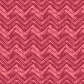 Linocut Chevron - Red