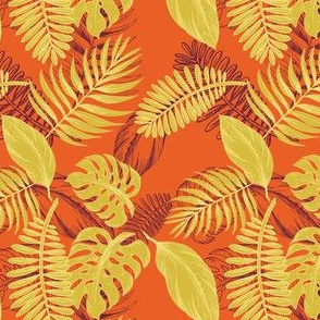 Tropical Beach - Gold & Orange