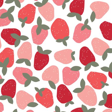 Strawberries fabric by shelbyallison on Spoonflower - custom fabric