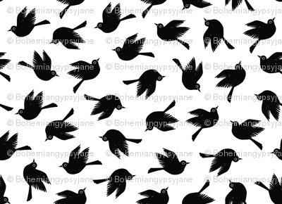 Blackbirds - Black & White
