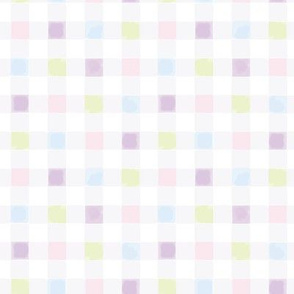 Watercolor Checks Halfsized